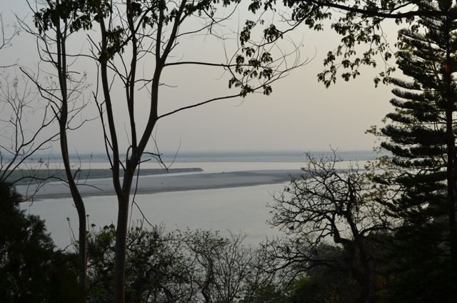 View of Mighty Brahmaputra from Agnigarh Hill