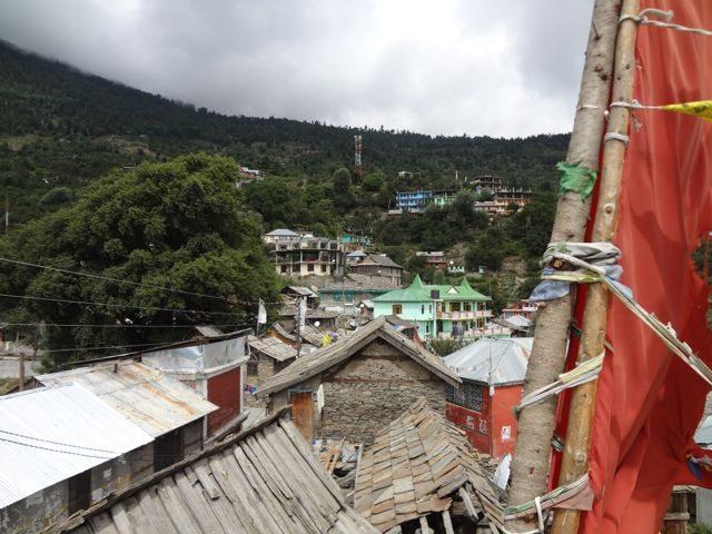 Kalpa town from Buddhist monastery
