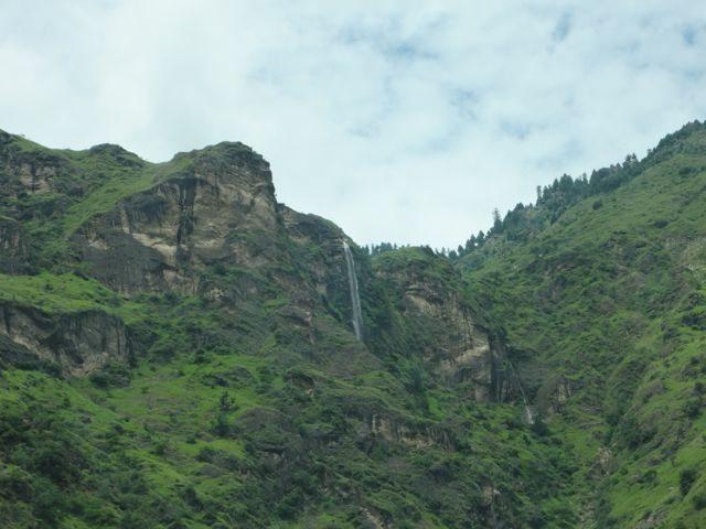 Waterfall in lush green Sutlej Valley