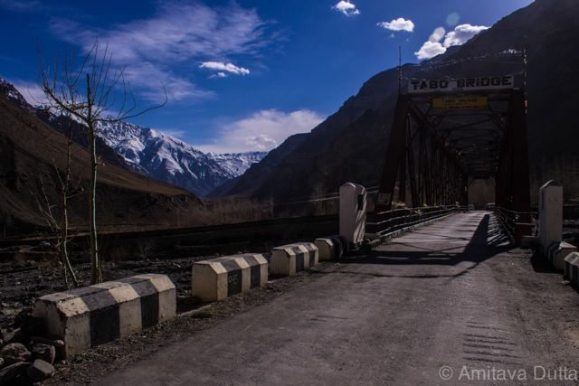 Tabo village, nice metal road for a small stretch