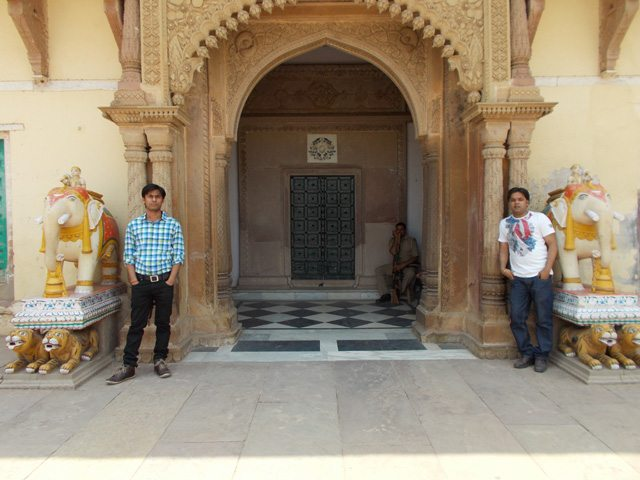 I and Sanjay in Ramnagar fort