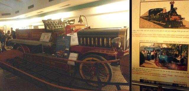 राष्ट्रीय रेल संग्रहालय के in-door म्यूजियम में संरक्षित चित्र-प्रदर्शनी और विभिन्न आकर्षक रेल प्रतिरूप