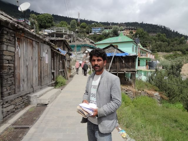 Local postman- my guide in Kalpa