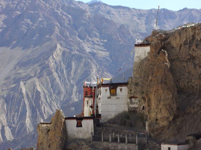 Imposing Dhankar monastery
