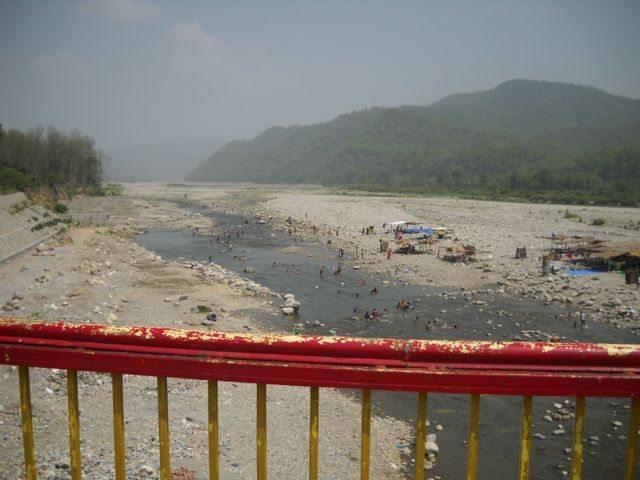 Pilgrims taking bath in holy Kosi river