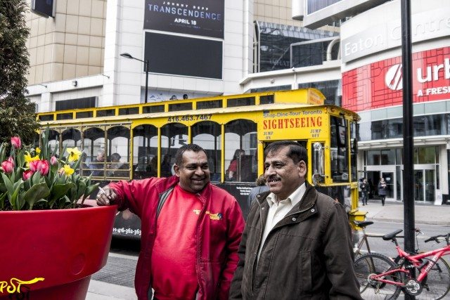 Near tourist bus with lost desi driver (Mr. Roy)