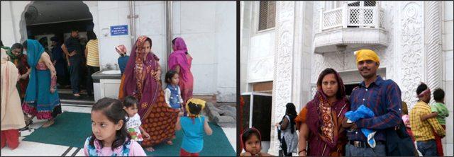 गुरुद्वारा श्री बंगला साहिब में प्रवेश के लिए प्रस्थान