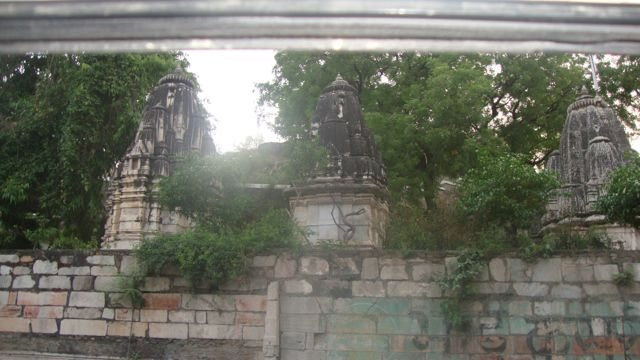 Road side view of Eklingji Temple as Photography is not allowed inside.