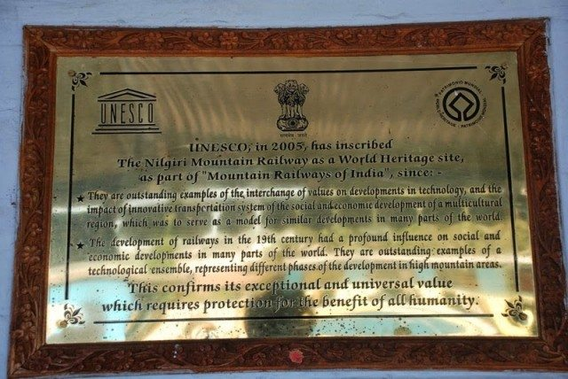 UNESCO World Heritage plaque