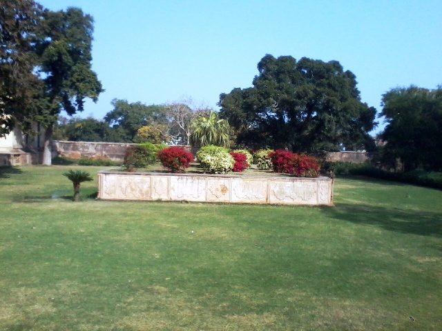 Decorated Garden at Deeg Palace