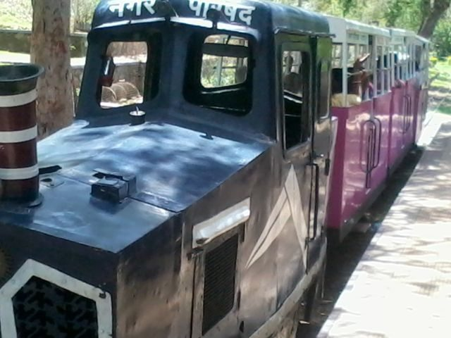 Train at Gulab Bagh