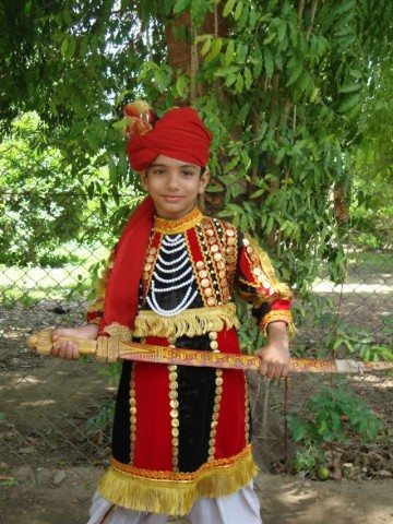 Namit tried one Rajasthani Dress