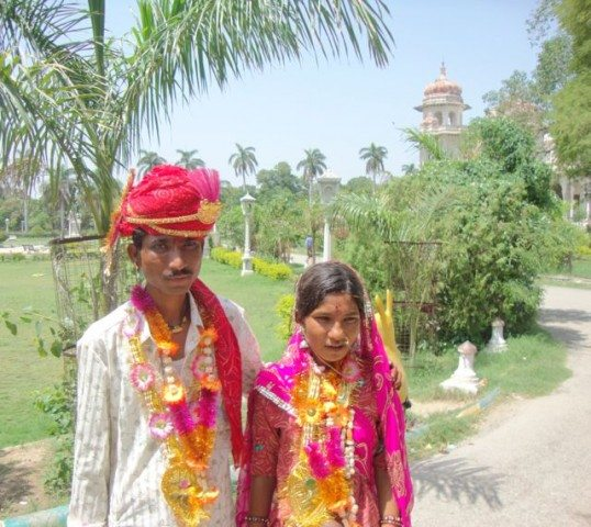 Newly wed Rajasthani folks