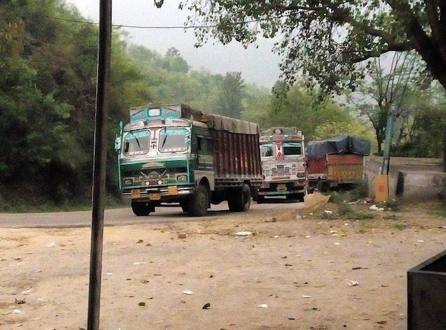 The rush of trucks in the way