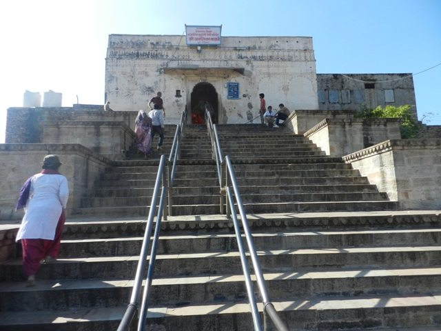 Stairs to Kalika Devi Temple