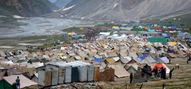 Panchtarni River and Tents