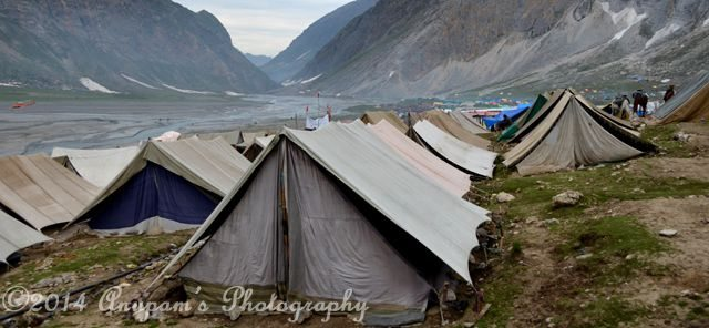 Tents on the Bank of Panchtarni River