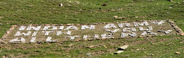 Inscription on the way to Zajipal