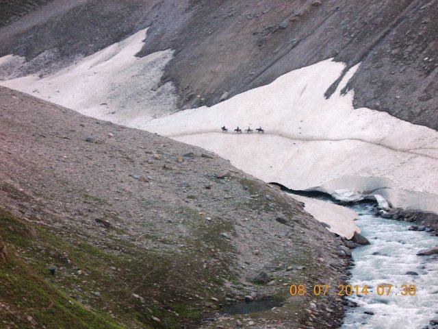 बर्फ से भरी घाटी