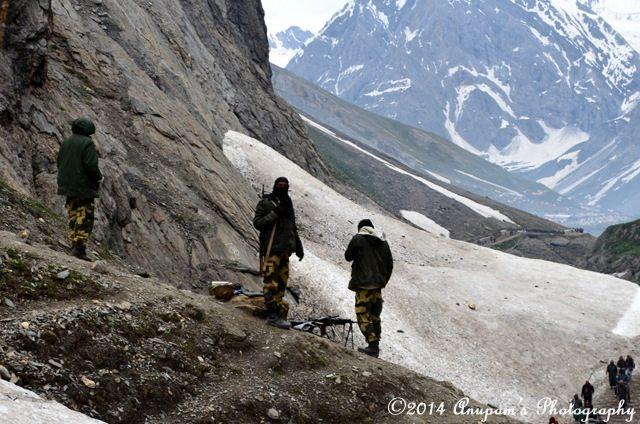 Vigilant Army looking at pilgrims' safe journey to Sangam Top