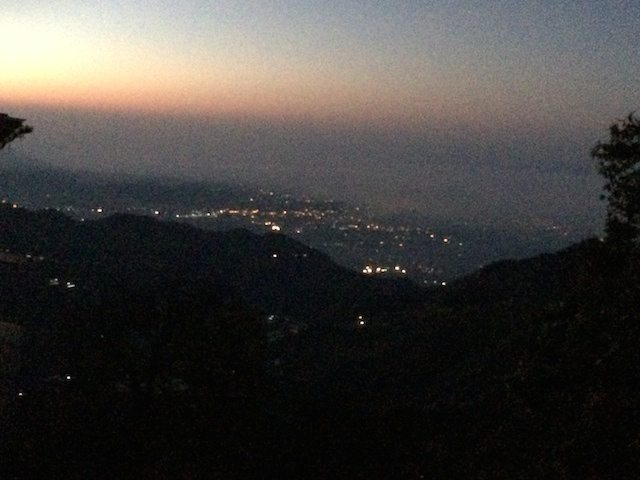 Night at hills