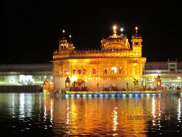 Sri Harminder Sahab-night view