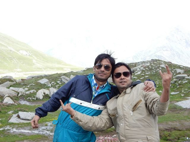 I and Sanjay in Rohtang Pass