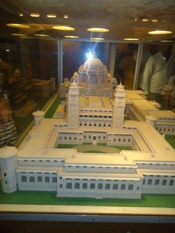 Umaid bhawan model inside museum