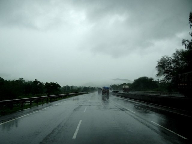 Badoda Highway in the rains