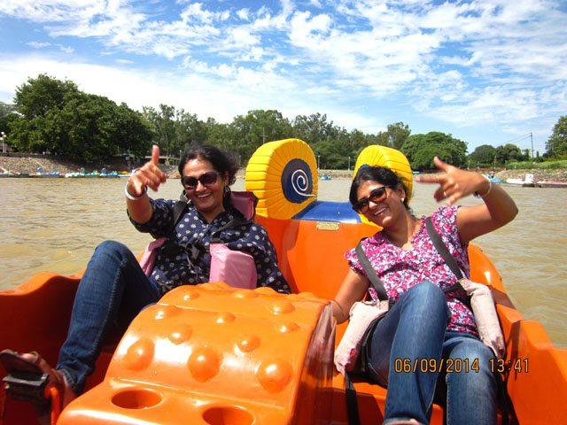 Boating at Sukhna Lake
