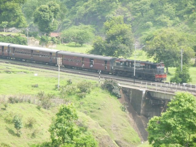 Train entering kalakund