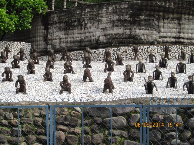 Monkey artifacts of Rock Garden