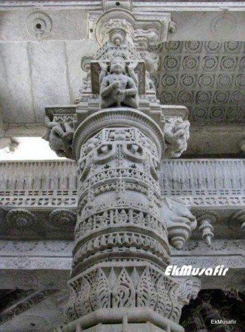 Beautiful carved pillar.