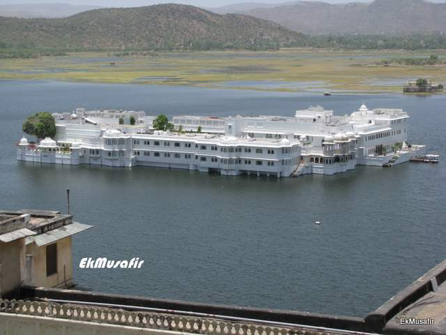 The Lake Palace as seen from the City Palace, Udaipur.