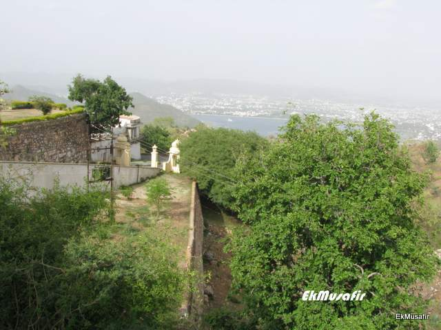 View from Sajjan Garh, Udaipur.