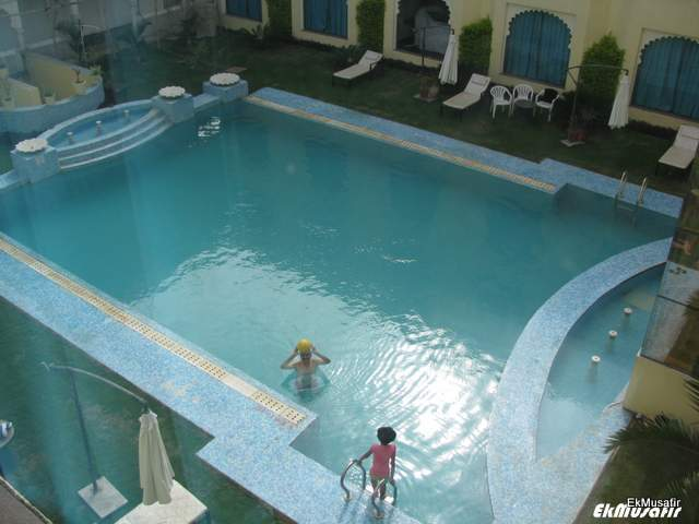 Swimming pool at Club Mahindra Udapur.