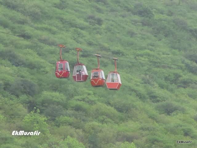 Ropeway to Karni Mata Hill.