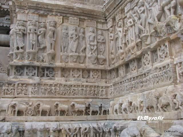 Wall carvings at Jagdish Temple.