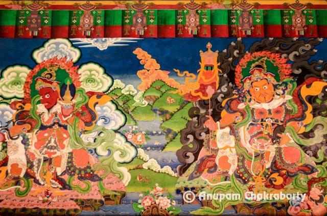 Mural on the inner wall of monastery