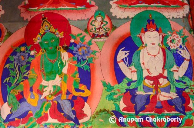 Deity Green Tara and White Tara