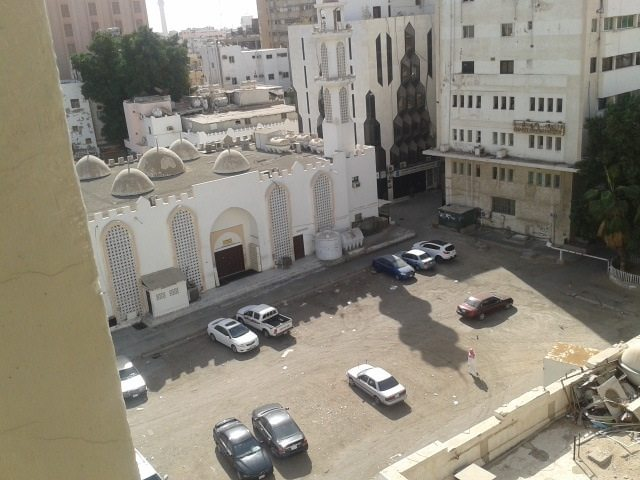 The back view from my room in Hotel Janoob, 2012