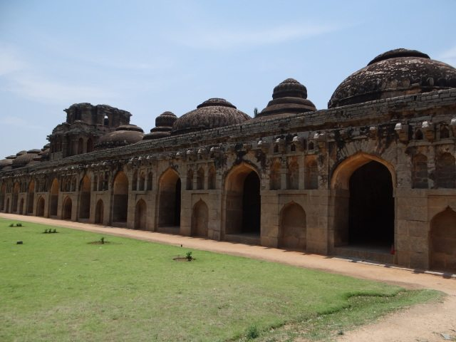 Ancient elephant stables at Hampi