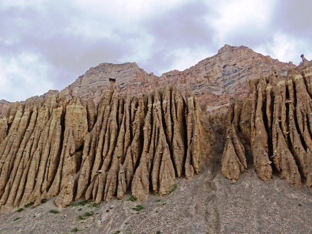Geological formations from erosion