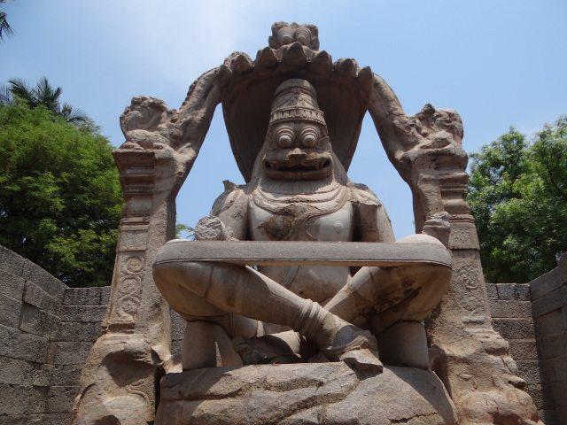A statue of Narasimha