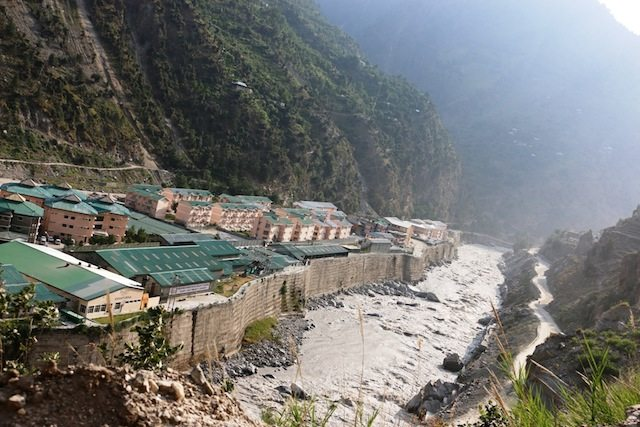 JP Hydro project just before the landslip zone