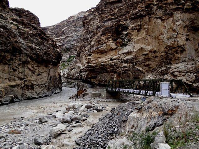 Khab bridge... confluence of Sutlej and Spiti rivers