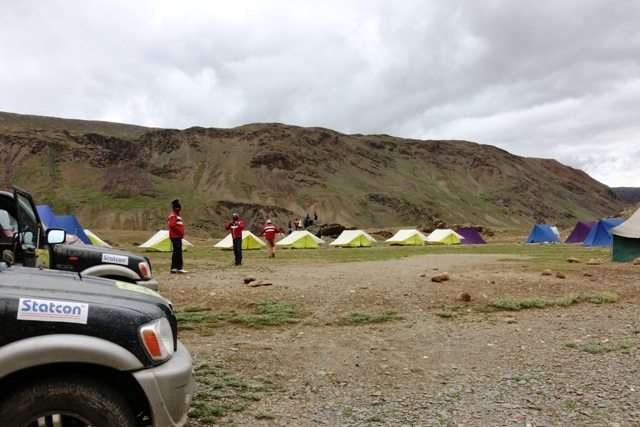 Our campsite at Chandratal