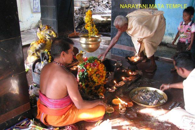 Rituals at Narayani Mata Temple