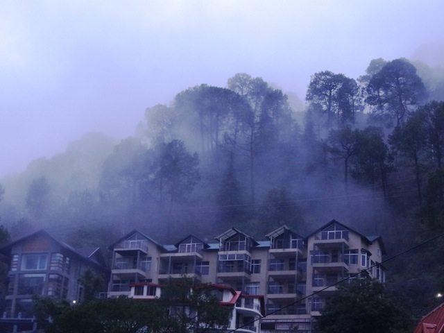 Shrouded in fog... Kasauli