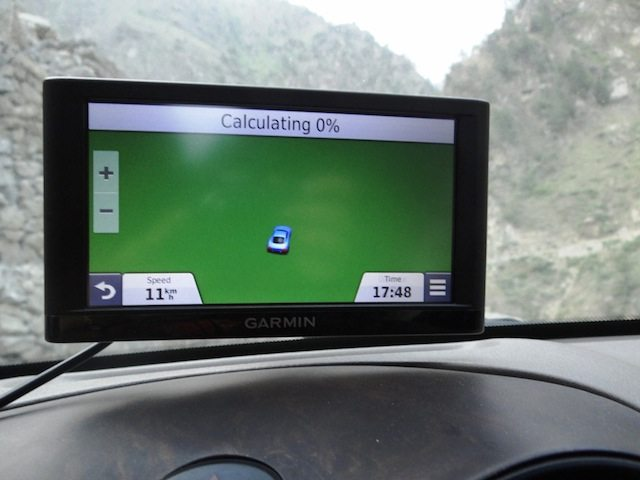The GPS all at sea !!